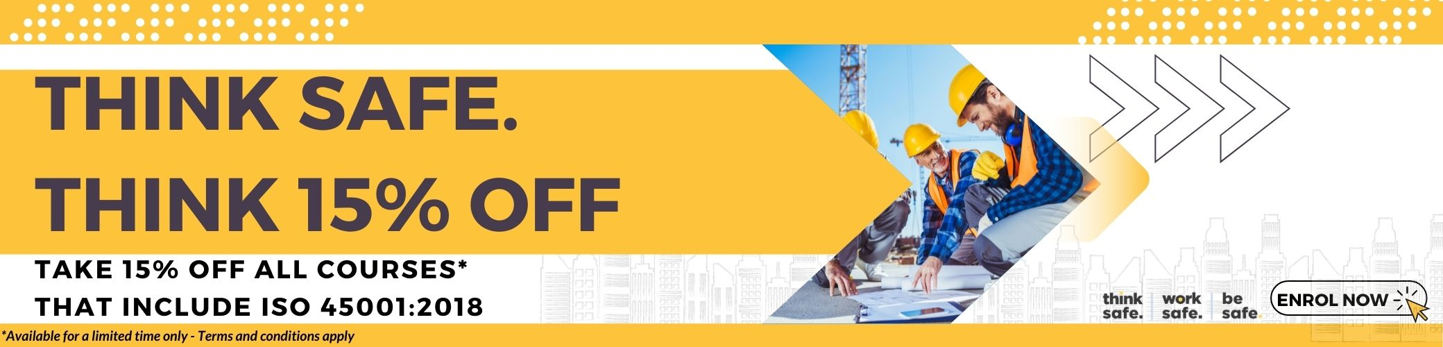Safe work month 2021 15% OFF ISO 45001 courses