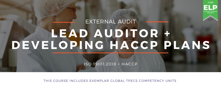 Auditor Training Online - Lead Auditor - HACCP