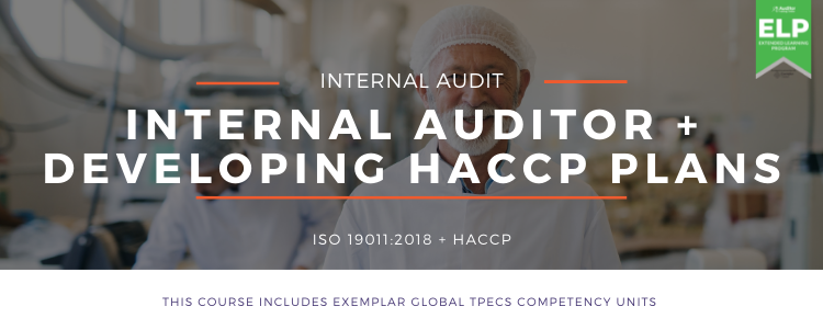 Internal Auditor HACCP Practitioner